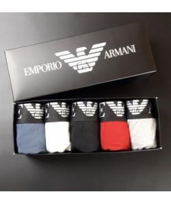 Набор 5 шт в коробке. Мужские трусы боксеры Armani