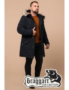 Зимняя куртка парка Braggart Arctic . Парка мужская и подростковая. Цвет сине-черный