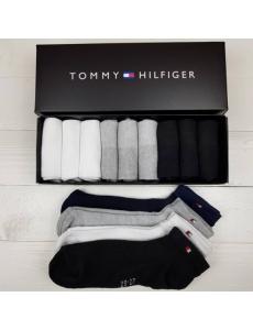 Набор носков Tommy Hilifiger ,  9 шт в подарочной коробке.