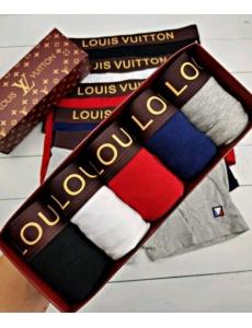 Набор 5 шт. Мужские трусы Louis Vuitton в подарочной коробке.