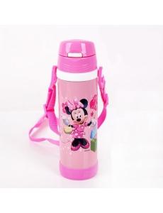 """Термос для девочки """"Минни Маус (Minnie Mouse)"""" с трубочкой"""