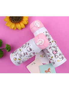 "Термос для девочки с горлышком ""Хеллоу Китти (Hello Kitty)"" цвет белый"