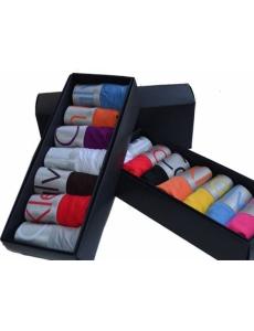 Женское белье трусики стринги Calvin Klein серия Steel в коробке, набор 7 шт