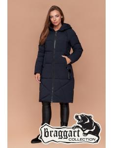 Женская зимняя куртка, пальто женское Braggart. Цвет синий