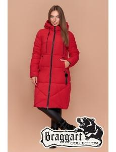 Женская зимняя куртка, пальто женское Braggart. Цвет красный