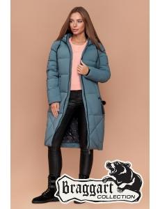 Женская зимняя куртка, пальто женское Braggart. Цвет светлая бирюза