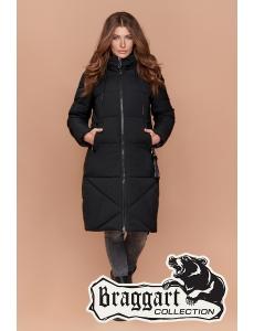 Женская зимняя куртка, пальто женское Braggart. Цвет черный