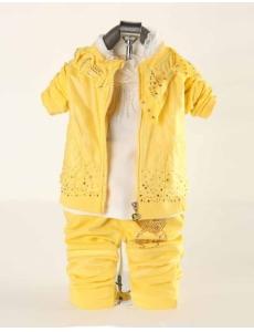 Детский костюм для девочки тройка - цвет желтый Минни