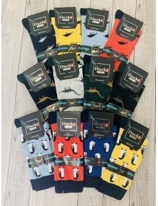 Набор носков 12 шт. Цветные носки мужские, женские. Разные цвета.