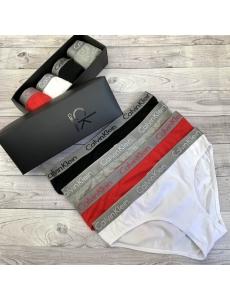 Набор 4 шт. Женские трусики слипы Calvin Klein в коробке.