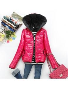 Женская куртка цвет розовый