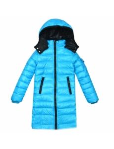 Пальто  МONCLER цвет голубой
