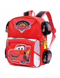 Детский дошкольный рюкзак Тачки, Молния Маквин, цвет красный