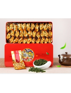 Китайский крупнолистовой зеленый чай Улун, железная банка 0,250 гр