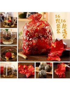 Китайский чай. Элитный связанный цветочный чай, набор 16 шт