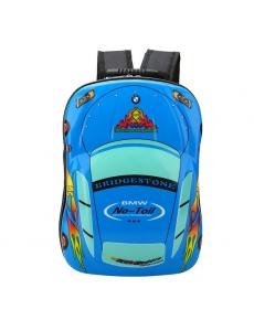 Детский дошкольный рюкзак BMW синий -  жесткий корпус