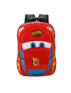 Детский дошкольный рюкзак Тачки красный -  жесткий корпус