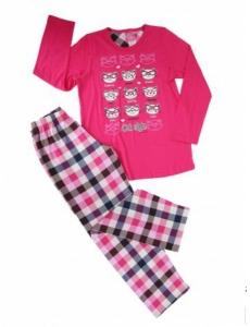Пижама для девочки Vienetta Secret с кошечками, розовая