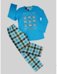 Пижама для девочки Vienetta Secret с кошечками, голубая