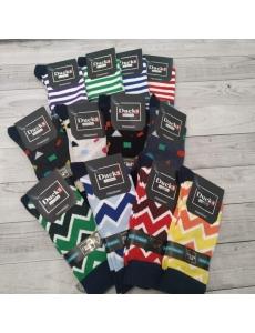 Набор носков 12 шт. Цветные модные носки мужские, женские. Разные цвета.