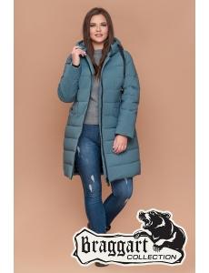 Женская зимняя куртка, пальто Braggart. Размер 48-58. Цвет светлая бирюза