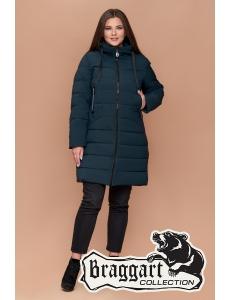 Женская зимняя куртка, пальто Braggart. Размер 48-58. Цвет бирюза