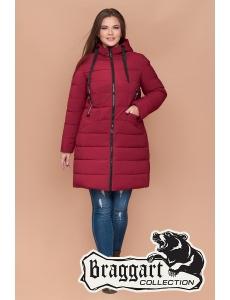 Женская зимняя куртка, пальто Braggart. Размер 48-58. Цвет красный