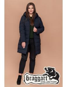 Женская зимняя куртка Braggart. Размер 48-58. Цвет синий