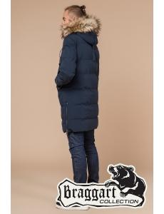Зимняя куртка пальто Braggart. Хит 2019. Мужская и подростковая куртка. Цвет синий