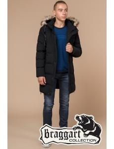 Зимняя куртка пальто Braggart. Хит 2019. Мужская и подростковая куртка. Цвет черный